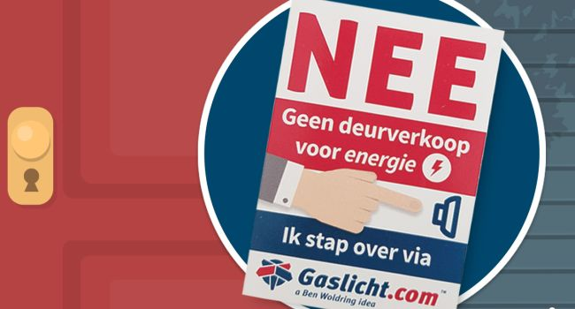 deursticker tegen energieverkopers