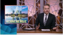 Lubach pleit in zijn tv-show voor kernenergie.