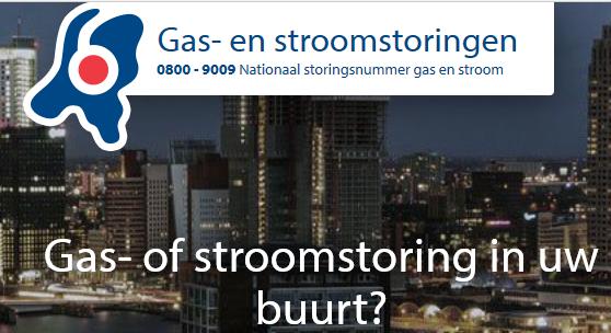 gas- of stroomstoring in uw buurt? Bel 0800-9009, het nationaal storingsnummer gas en stroom.