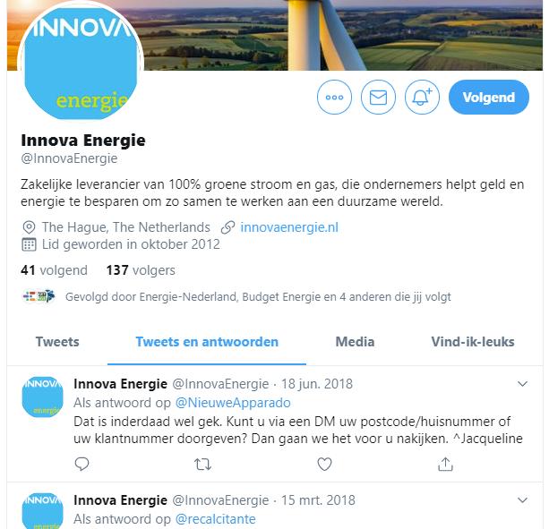 Twitter Innova Energie