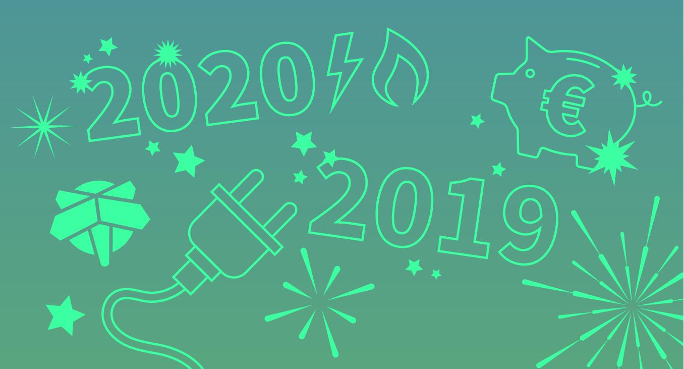 Bedankt voor met mooie jaar 2019!