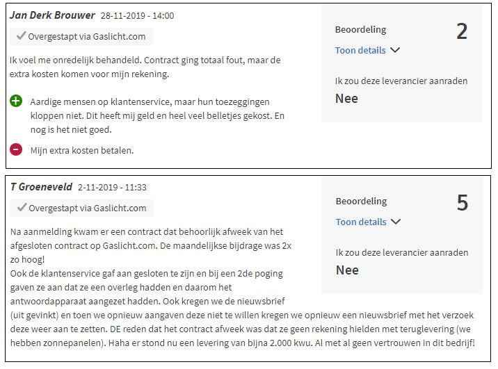 Greenchoice review met verbeterpunten