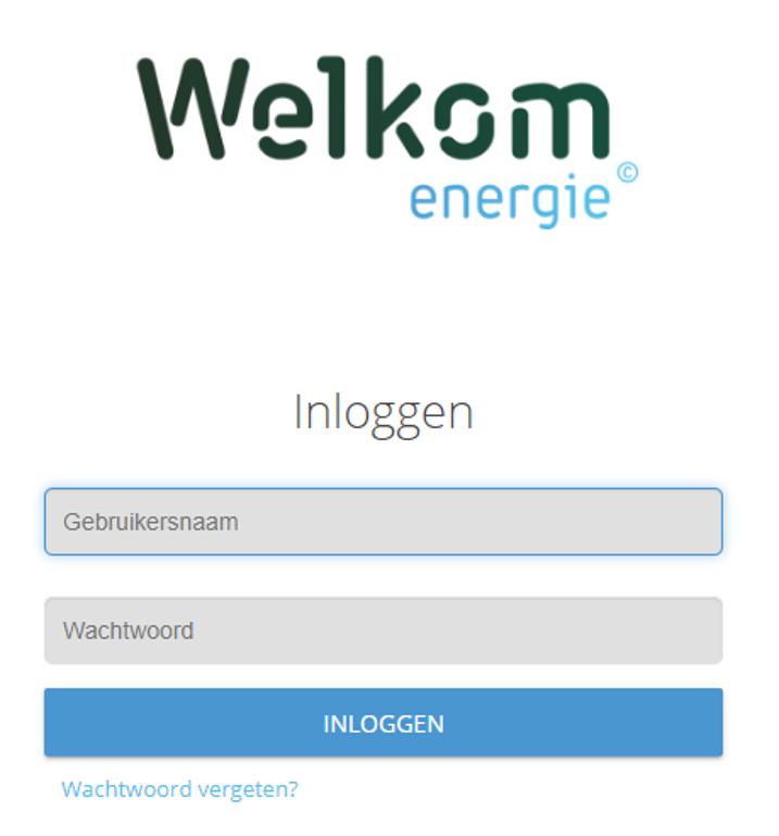 Online omgeving Welkom Energie