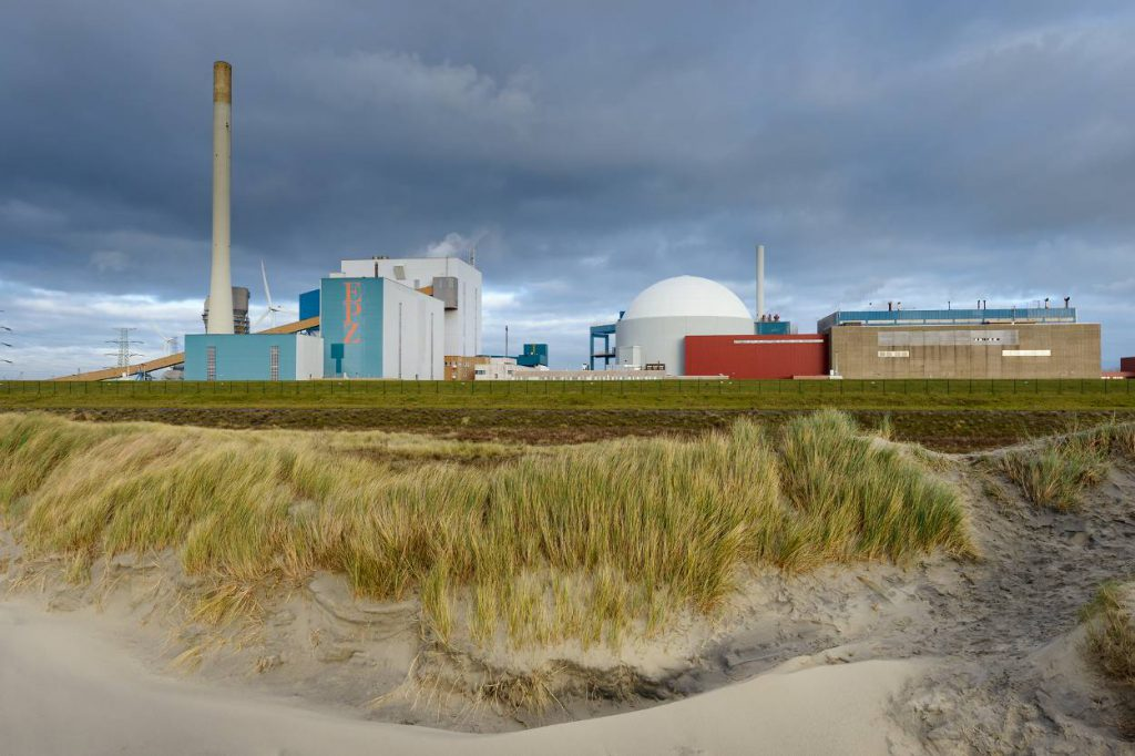 Kerncentrale Borssele: enige kerncentrale van Nederland die in bedrijf is.